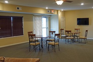 Community room dining area